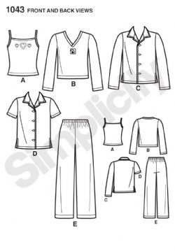 1043 Simplicity Pattern: Child's, Girls' and Boys' Separates